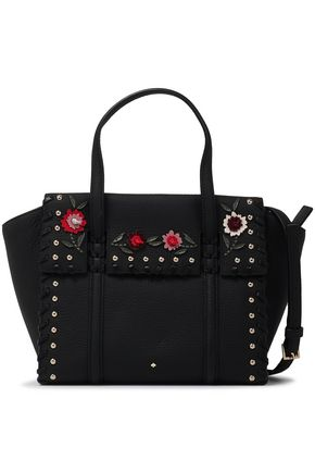 KATE SPADE New York Madison Daniels studded floral-appliquéd shoulder bag