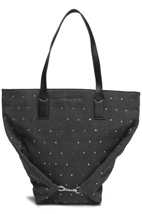 MARC JACOBS Crystal-embellished denim tote