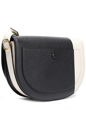 VICTORIA BECKHAM Two-tone textured-leather shoulder bag