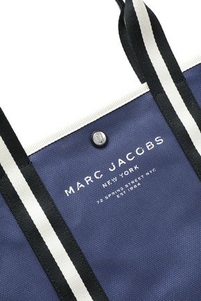 MARC JACOBS Grosgrain-trimmed canvas tote