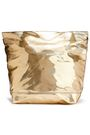MARNI Bundle crinkled faux mirrored-leather clutch
