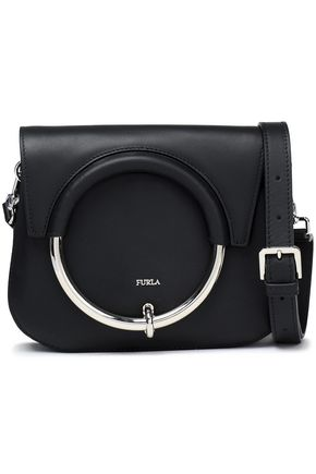 FURLA Embellished leather shoulder bag