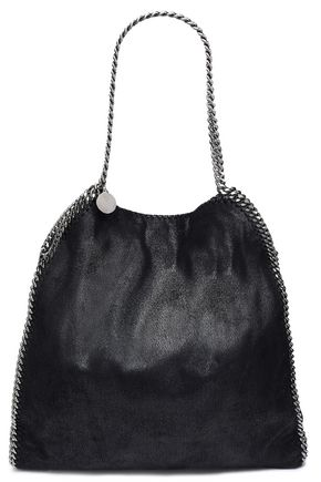 STELLA McCARTNEY Chain-trimmed brushed faux leather tote
