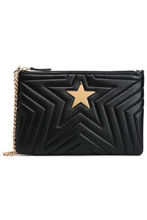 STELLA McCARTNEY Embellished quilted faux leather pouch
