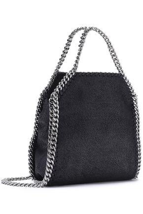 STELLA McCARTNEY Falabella tiny faux brushed-leather shoulder bag