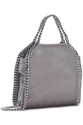 STELLA McCARTNEY Falabella mini faux brushed-leather shoulder bag