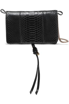 STELLA McCARTNEY Croc-effect faux leather shoulder bag