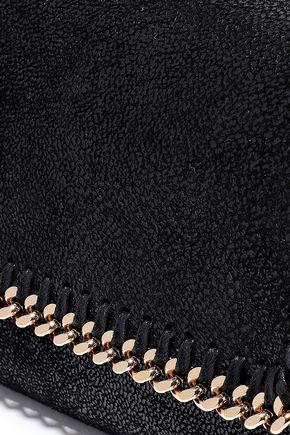 STELLA McCARTNEY Chain-trimmed coated faux suede shoulder bag