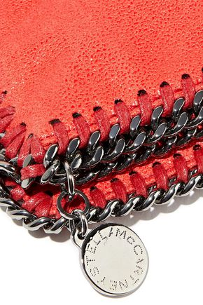 STELLA McCARTNEY Falabella Shaggy faux brushed-leather fold-over clutch