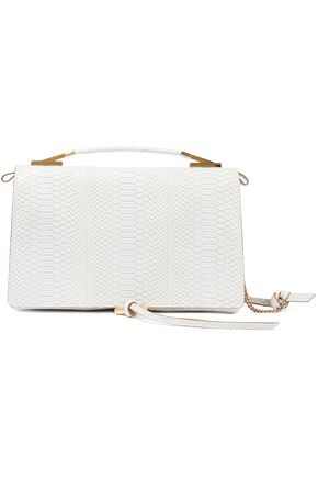 STELLA McCARTNEY Snake-effect faux leather shoulder bag