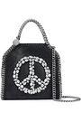 STELLA McCARTNEY Falabella Tiny crystal-embellished faux brushed-leather shoulder bag