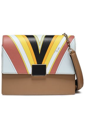 EMILIO PUCCI Print-paneled leather shoulder bag