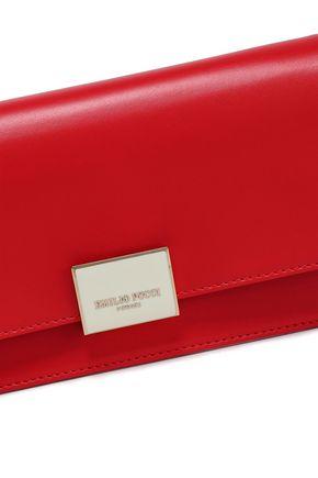 EMILIO PUCCI Two-tone leather clutch