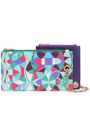 EMILIO PUCCI Set of two faux leather pouches