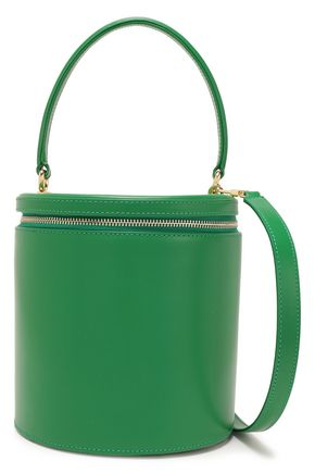STAUD Vitti croc-effect leather bucket bag