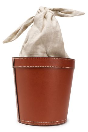 STAUD Canvas and leather bucket bag 02b9c6359e32e