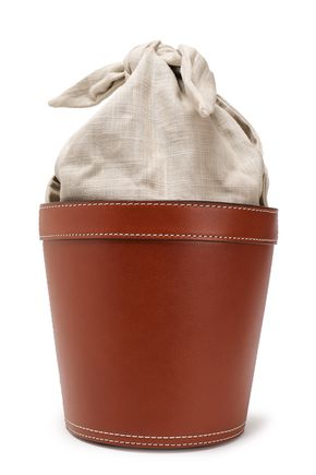 STAUD Canvas and leather bucket bag