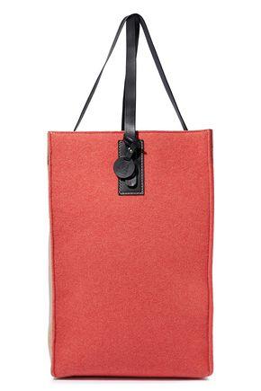 f96f067b4c M MISSONI Leather-trimmed two-tone wool-blend felt tote