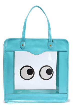 ANYA HINDMARCH Rainy Day appliquéd PVC and crinkled patent-leather tote