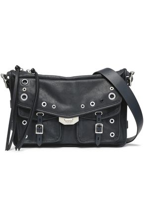RAG & BONE Eyelet-embellished textured-leather shoulder bag
