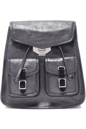 RAG & BONE Metallic leather backpack