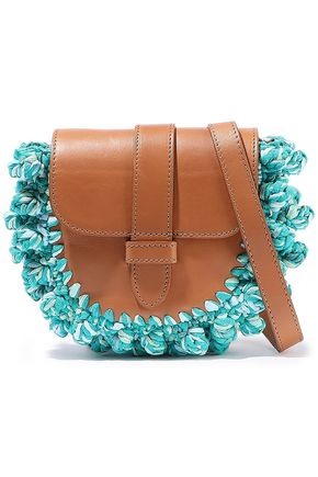 M MISSONI Knotted crochet-paneled leather shoulder bag