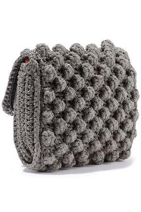 M MISSONI Metallic crochet-knit shoulder bag