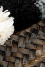 KAYU Hail pompom-embellished woven straw tote