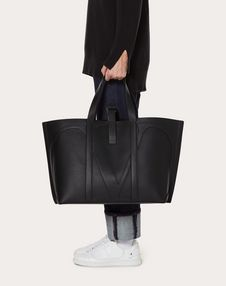 VLOGO LARGE CALFSKIN SHOPPER