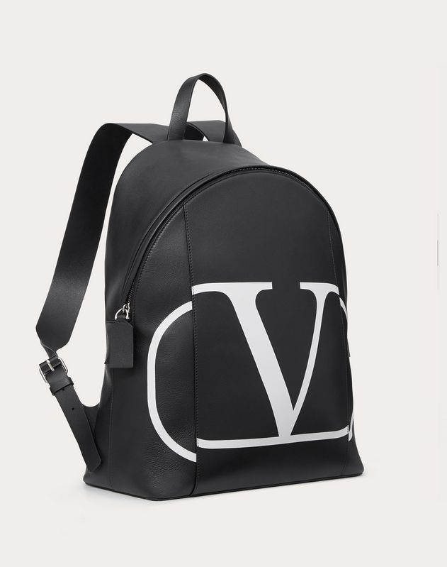 VLOGO CALFSKIN BACKPACK WITH INLAID LOGO