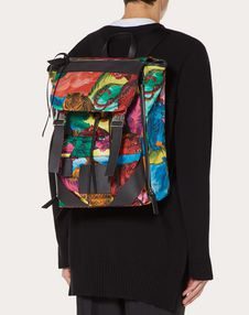 NYLON BACKPACK WITH TIGER DESIGN