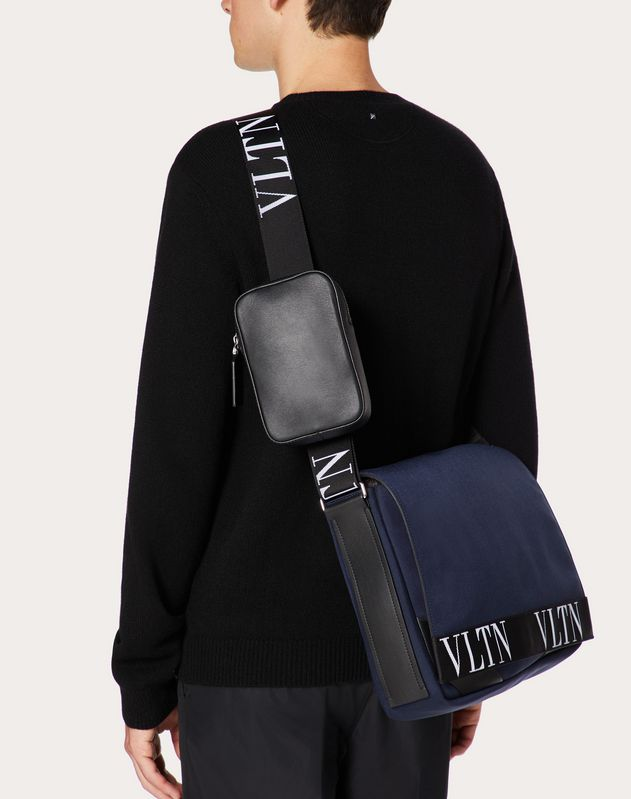 VLTN LARGE NYLON SHOULDER BAG