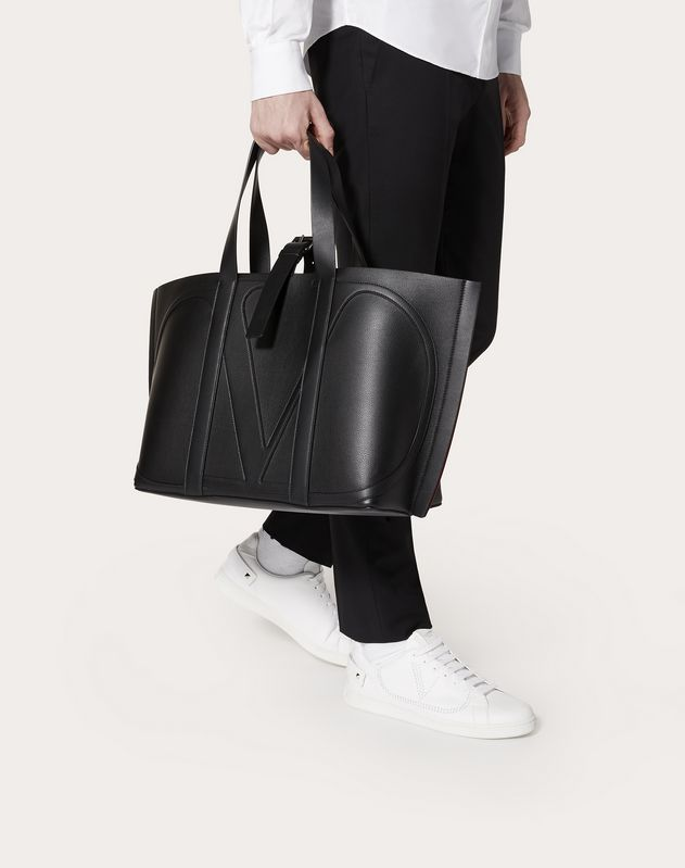 VLOGO CALFSKIN SHOPPER