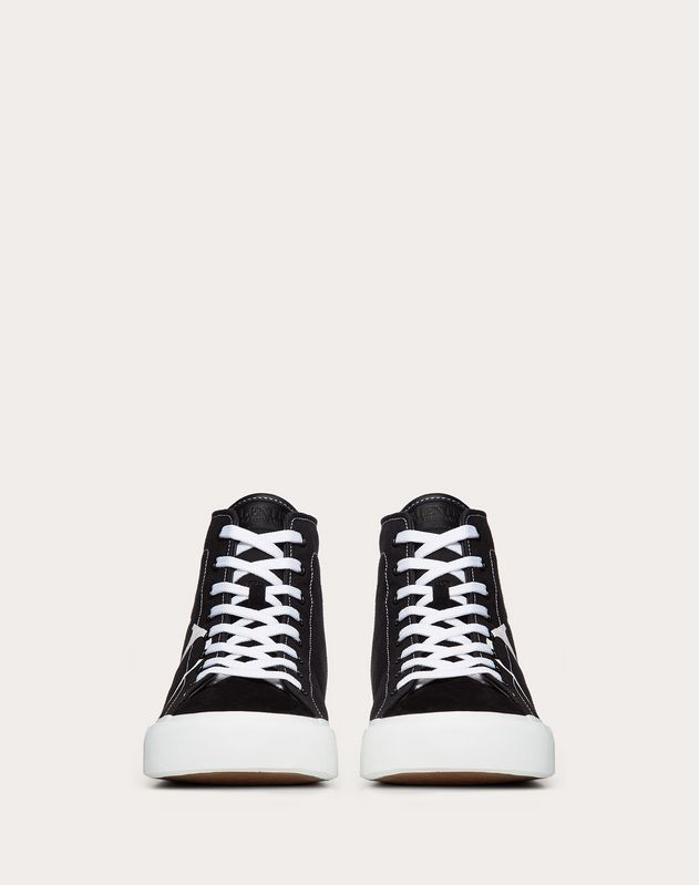 TRICKS HIGH-TOP CANVAS AND SUEDE TRAINER