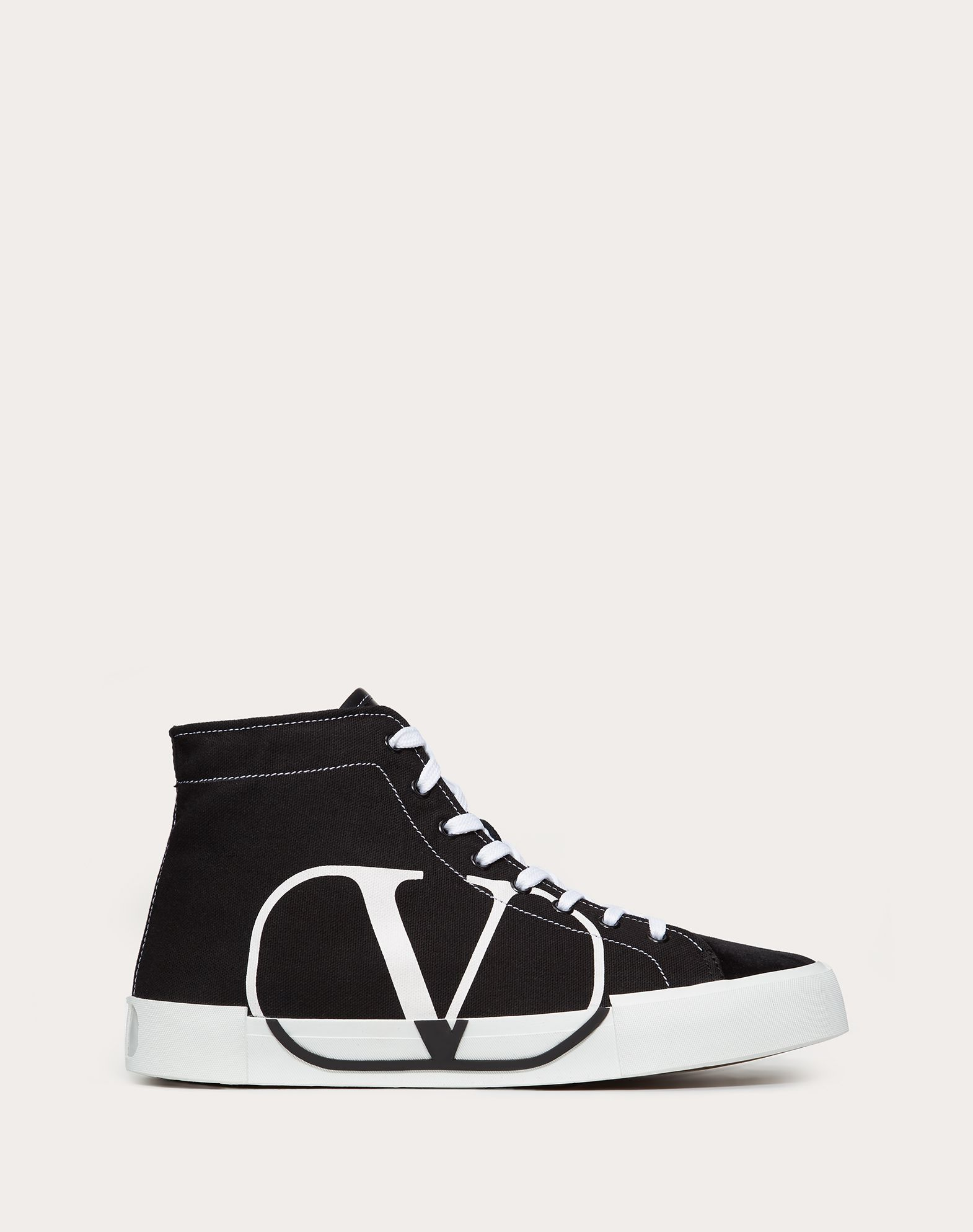 TRICKS HIGH-TOP CANVAS AND SUEDE SNEAKER