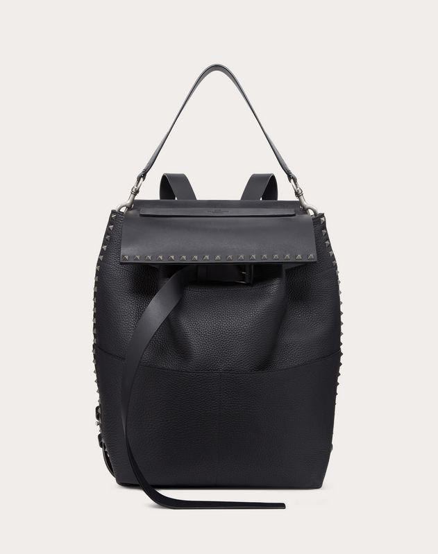 GRAIN CALFSKIN LEATHER ROCKSTUD BACKPACK