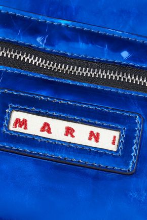 MARNI Bundle metallic crinkled-PVC clutch