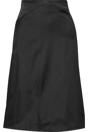 ACNE STUDIOS Karre asymmetric satin skirt
