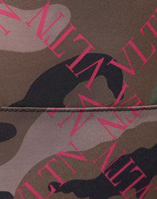 VLTN GRID CAMOUFLAGE NYLON BACKPACK WITH DRAWSTRING