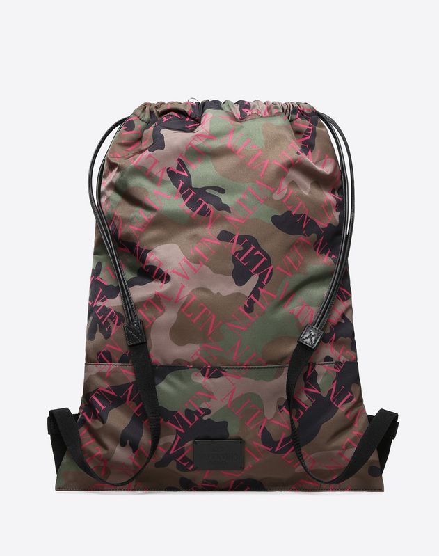 VLTN GRID CAMOUFLAGE NYLON BACKPACK