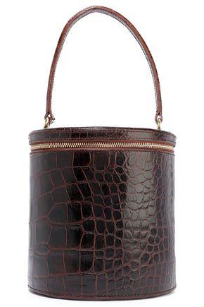 STAUD Vitti croc-effect leather bucket bag