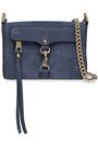 REBECCA MINKOFF MAB textured-nubuck shoulder bag