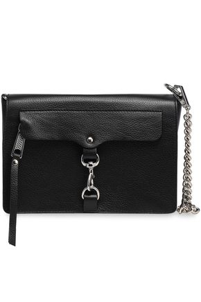 REBECCA MINKOFF MAB chain-trimmed textured-leather shoulder bag