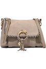 SEE BY CHLOÉ Joan suede-paneled pebbled-leather shoulder bag