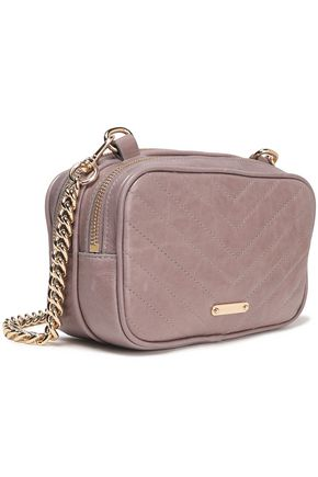 REBECCA MINKOFF Chain-trimmed quilted leather shoulder bag