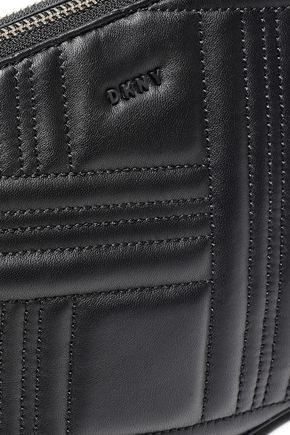 DKNY Quilted textured-leather shoulder bag