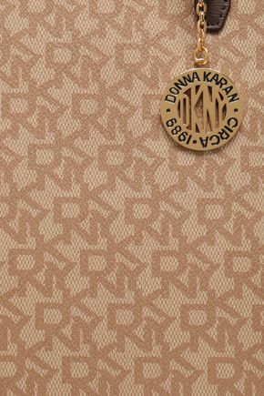 DKNY Printed faux leather tote