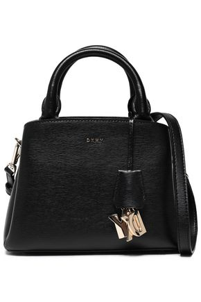 DKNY Embellished textured-leather tote