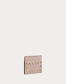 Rockstud Grainy Calfskin Cardholder