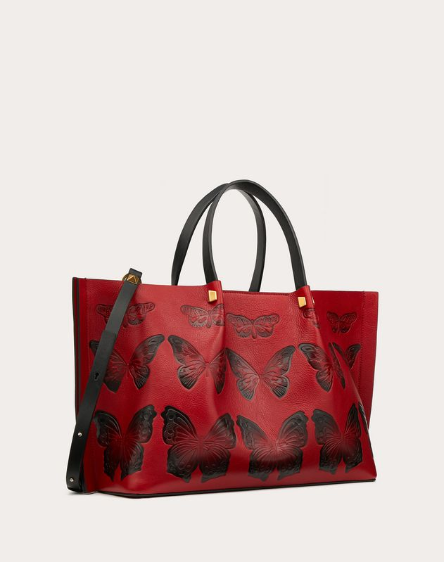 Medium VLOGO Escape Shopper with Butterfly Details